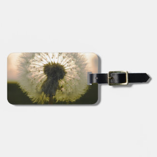 dandelion in the sun luggage tag