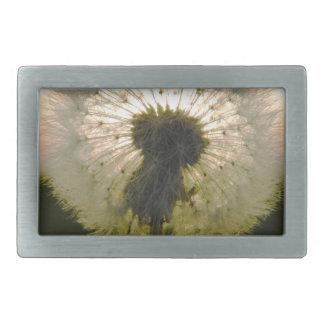 dandelion in the sun rectangular belt buckle