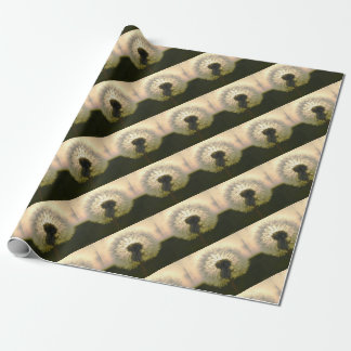 dandelion in the sun wrapping paper