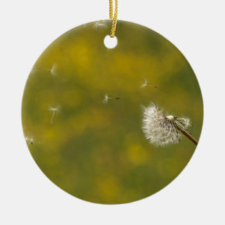 Dandelion in the wind christmas ornament
