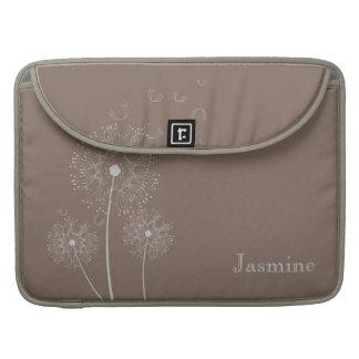 Dandelion in the wind Monogram Sleeve For MacBook Pro