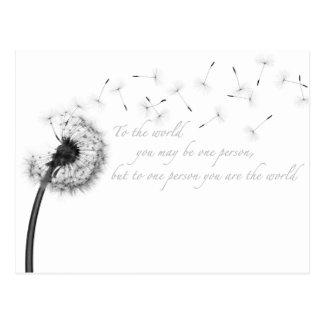 Dandelion Inspiration Postcard