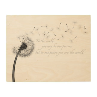 Dandelion Inspiration Wood Wall Art