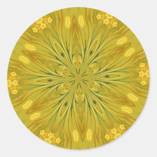Dandelion Kaleidoscope Round Sticker