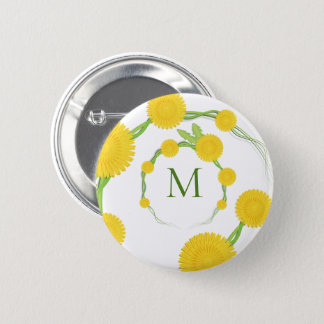 Dandelion Monogram | Button
