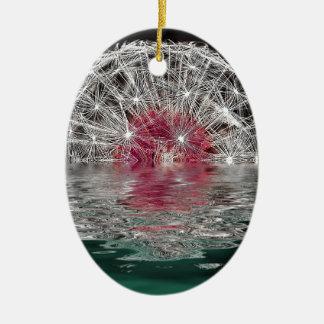 Dandelion Moon Ceramic Oval Decoration