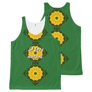 Dandelion Nature 001, Flower-Mandala All-Over Print Tank Top