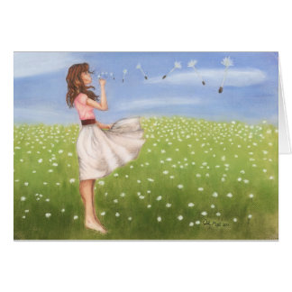 Dandelion notecard-KNOWLEDGE IS POWER Card