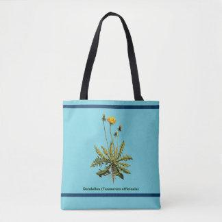 Dandelion On Blue Tote Bag
