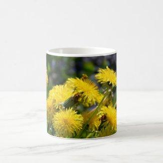 Dandelion on  coffee mug