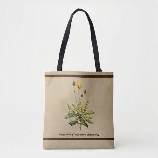 Dandelion On Old Paper Tote Bag