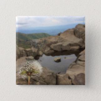 Dandelion Over a Pond 15 Cm Square Badge