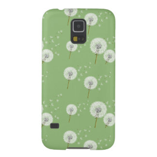 Dandelion Pattern on Green Background Galaxy S5 Cover