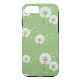 Dandelion Pattern on Green Background iPhone 8/7 Case