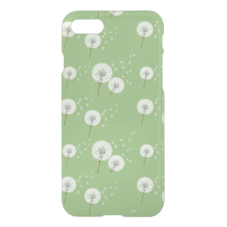 Dandelion Pattern on Green Background iPhone 8/7 Case