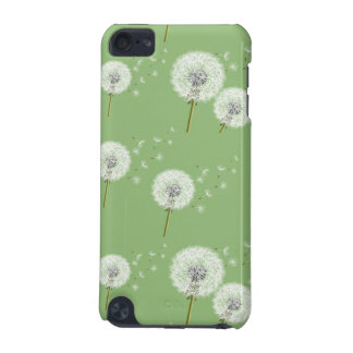 Dandelion Pattern on Green Background iPod Touch 5G Cover