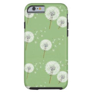 Dandelion Pattern on Green Background Tough iPhone 6 Case