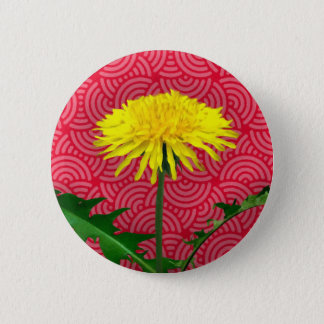 Dandelion Pop Art 6 Cm Round Badge