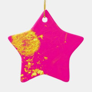 Dandelion pop art christmas ornament