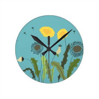 Dandelion Print Clock
