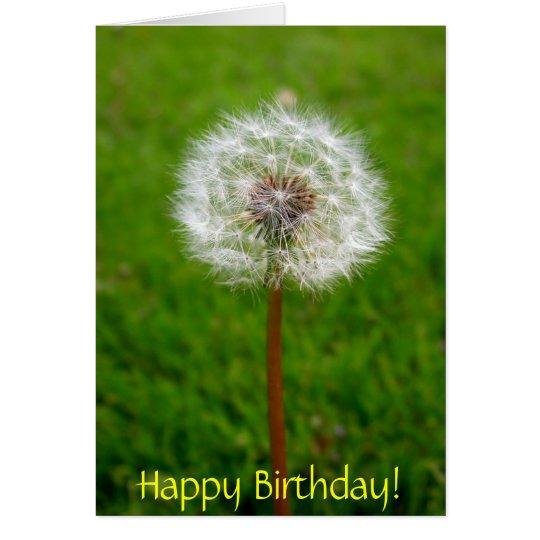 Dandelion Puff, Happy Birthday! Card
