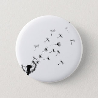 Dandelion puff in the wind 6 cm round badge