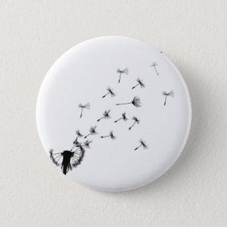 Dandelion puff in the wind 6 cm round badge