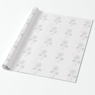 Dandelion pure modern flower art wrapping paper
