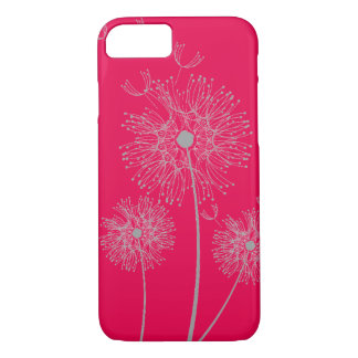 Dandelion pure modern hot pink flower art iPhone 8/7 case