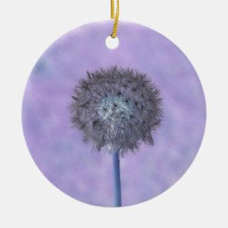Dandelion Purple Pink Christmas Ornament