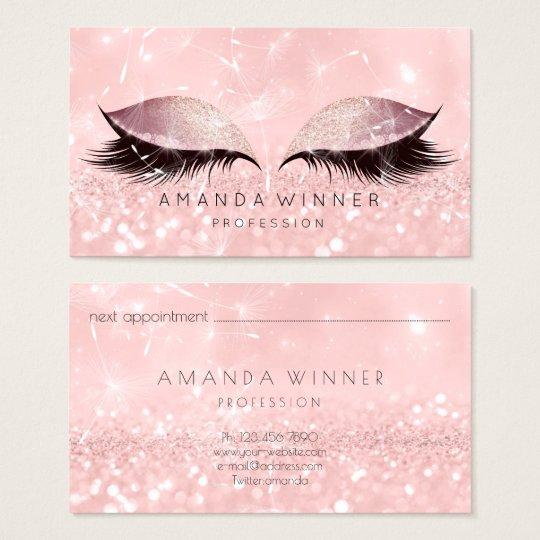 Dandelion Rose Gold Pink Lashes Makeup Glitter Business