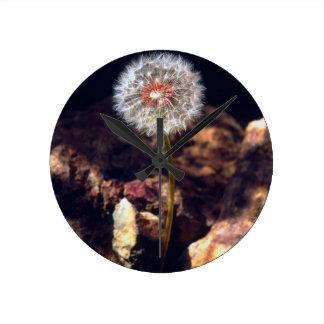 Dandelion Round Clock
