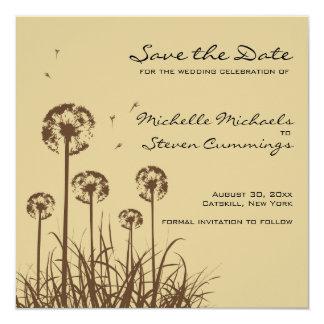 Dandelion Save The Date Announcement  - Custom