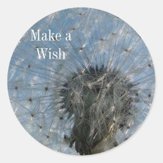Dandelion Seed Head Make a Wish Stickers