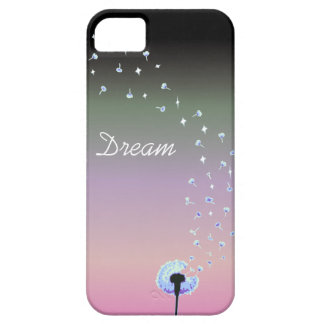 Dandelion Seeds Flying in the Wind - Black & Pink iPhone 5 Covers