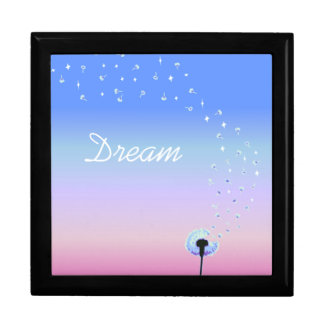 Dandelion Seeds Flying in the Wind - Pink & Blue Gift Box