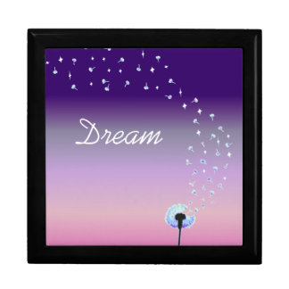 Dandelion Seeds Flying in the Wind - Pink & Purple Gift Box