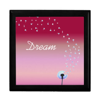 Dandelion Seeds Flying in the Wind - Pink & Red Gift Box
