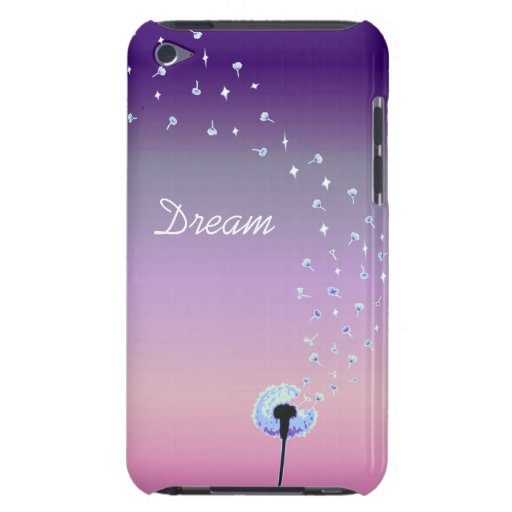 Dandelion Seeds Flying in the Wind - Purple iPod Touch Covers