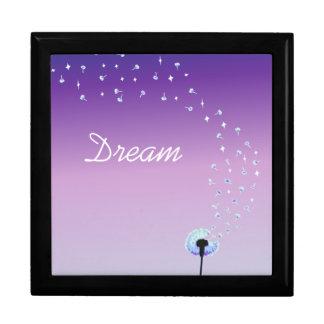 Dandelion Seeds Flying in the Wind - Purple Gift Box
