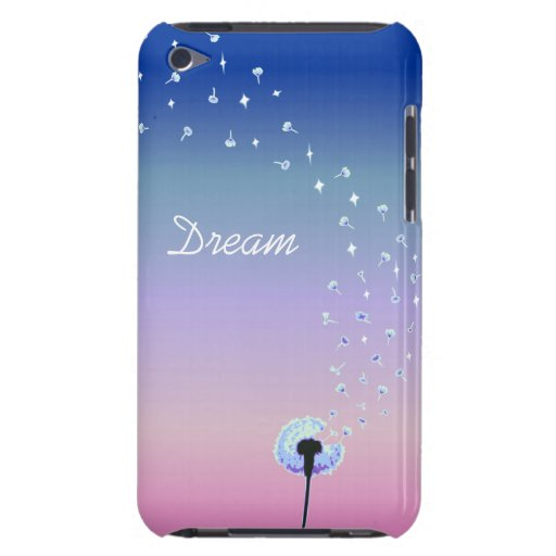 Dandelion Seeds Flying in the Wind - Royal Blue iPod Touch Case-Mate Case