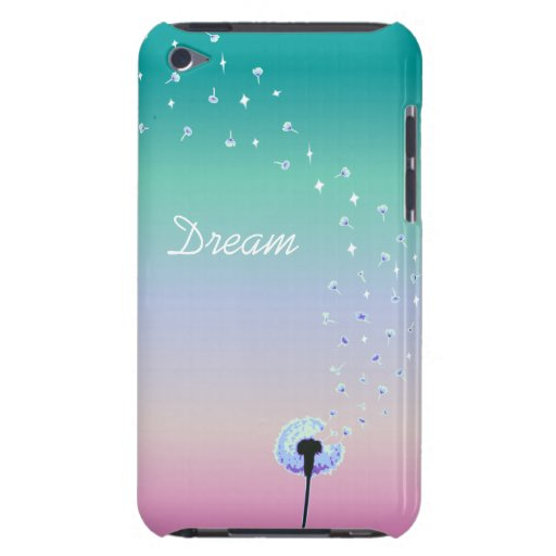 Dandelion Seeds Flying in the Wind - Turquoise iPod Touch Case-Mate Case