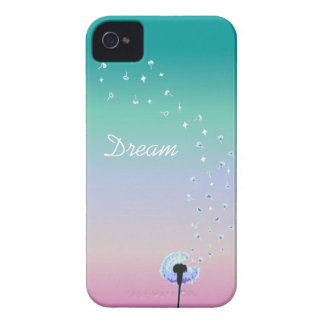 Dandelion Seeds Flying in the Wind - Turquoise iPhone 4 Case-Mate Cases