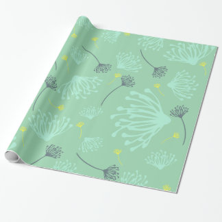 Dandelion Silhouette Wrapping Paper