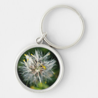 dandelion Silver-Colored round key ring