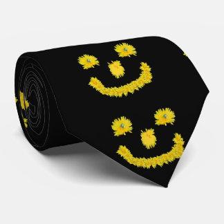 Dandelion Smiley Face Tie