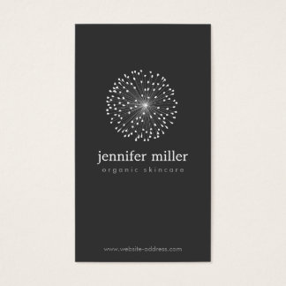 DANDELION STARBURST LOGO II on DARK GRAY Business Card