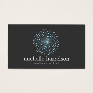 DANDELION STARBURST LOGO in BLUE on DARK GRAY