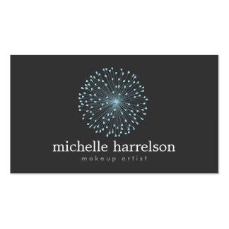 DANDELION STARBURST LOGO in BLUE on DARK GRAY Pack Of Standard Business Cards