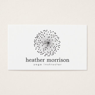 DANDELION STARBURST LOGO on WHITE Business Card